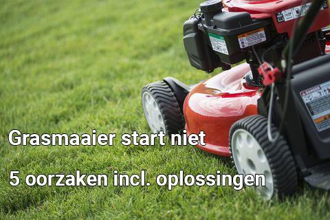 grasmaaier start niet