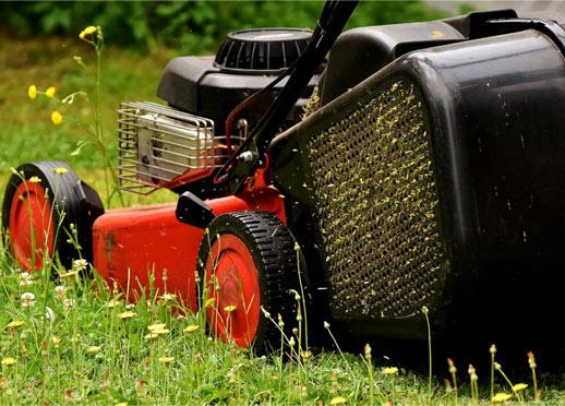 grasmaaier verstopt