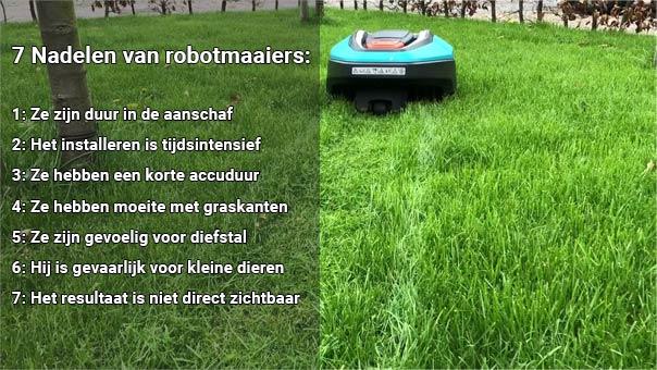 nadelen robotmaaier
